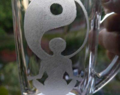 Ying Yang glas