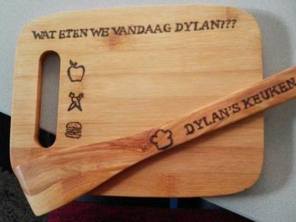 Kindersnijplank plus spatel Dylan